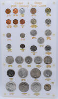 US 20TH CENTURY TYPE COIN SET BEAUTIFUL WHITE DISPLAY   PRC0