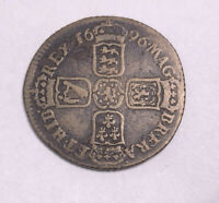 1696 GREAT BRITAIN WILLIAM III STERLING COLONIAL CURRENCY SI