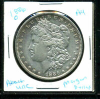 1886 O AU MORGAN DOLLAR 90 SILVER ABOUT UNCIRCULATED COMBINE SHIP$1 COINWC3135