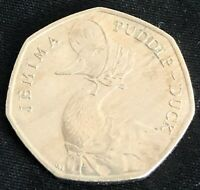 JEMIMA PUDDLE DUCK 50P FIFTY PENCE COIN BEATRIX POTTER CIRCU