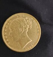 1885 QUEEN  VICTORIA YOUNG  HEAD  SHIELD  22CT GOLD  SOVEREI