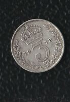 GREAT BRITAIN 3 PENCE 1918 SILVER