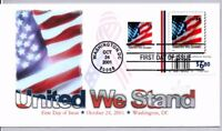 UNITED WE STAND FLAG STAMP FIRST DAY OF ISSUE WASHINGTON DC
