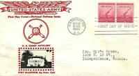 NATIONAL DEFENSE ISSUE 900 FDC CROSBY CACHET B3916