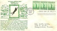 NATIONAL DEFENSE ISSUE 899 FDC CROSBY CACHET B3917