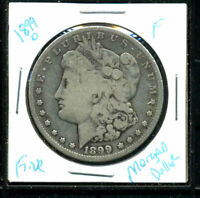 1899 O F MORGAN DOLLAR 90 SILVER  FINE  U.S.A COMBINE SHIP $1 COIN WC3139