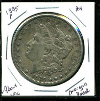 1885 P AU MORGAN DOLLAR 90 SILVER ABOUT UNCIRCULATED COMBINE SHIP$1 COINWC1415