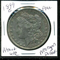 1899 O AU MORGAN DOLLAR 90 SILVER ABOUT UNCIRCULATED COMBINE SHIP$1 COINWC1655