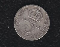 GREAT BRITAIN 3 PENCE 1919 SILVER