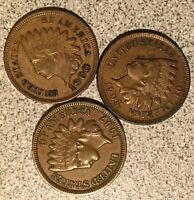 1900 1907 1908 INDIAN HEAD CENT LOT