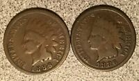 1886 1886 INDIAN HEAD CENT LOT TYPE 1 & 2