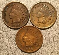 1905 1906 1907 INDIAN HEAD CENT LOT