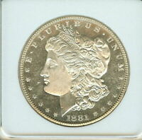 1881 S MORGAN SILVER DOLLAR APPEARS AN EXCEPTIONAL GEM
