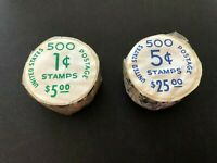 US SC. 1299 & 1304 UNOPENED COIL ROLLS OF 500 IN ORIG. P.O.