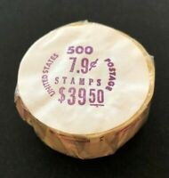 US SC.1615 COIL ROLL OF 500 7.9C STAMPS FACE $39.50 UNOPENED