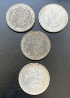 A LOT OF 4 FOUR 1881 $1 MORGAN SILVER DOLLARS; 3 1881-S; 1 1881