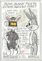 4492 YEAR OF THE RABBIT STAMP FIRST DAY ISSUE HIDEAKI NAKANO