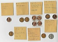 A NICE SET OF U.S. ERRORS OF CENTS AND NICKELS   FILLED DIES BROADSTRUCK CLIPS
