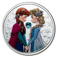 NIUE   2020   1 OZ SILVER PROOF  COIN  DISNEY FROZEN  ELSA AND ANNA FROZEN