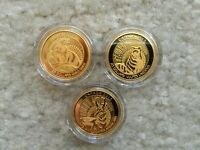 2013 14 UNTAMED CANADA 3X 1/4OZ GOLD PROOF COINS ARCTIC FOX PRONGHORN WOLVERINE
