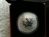 2014 CANADA ANA PRIVY MARK MAPLE LEAF REVERSE PROOF 1 OZ $5 SILVER COIN