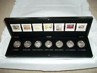 2012 2013 CANADA GROUP OF SEVEN 7X $20 1 OZ SILVER PROOF COIN SET IN WOODEN BOX
