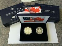 PRIDE OF TWO NATIONS 2019 LIMITED EDITION TWO COIN SET 19XB EAGLE MAPLE LEAF