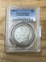 - PCGS GENUINE CLEANED FINE DETAILS 1893-S MORGAN DOLLAR BEAUTIFUL 1893 S
