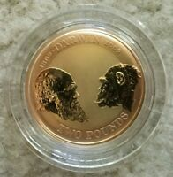 2009 GOLD CHARLES DARWIN GBP2 COIN IN OGP   UK ROYAL MINT