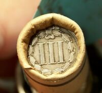 3 CENT NICKEL TAIL AND 1887 INDIAN HEAD CENT MOMS ROLL OF 50