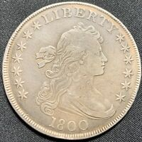 1800 $1 BUST DOLLAR - VF EARLY US SILVER DOLLAR