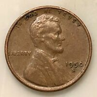 1950-S LINCOLN PENNY YOUR ACTUAL COIN IN PHOTO
