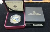 2010 BLUE JAY   BIRDS OF CANADA SERIES   BEAUTIFUL COLORED 25 CENT COIN