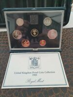 1985  ROYAL MINT PROOF SETS IN BLUE CASE WITH COA EXCELLENT