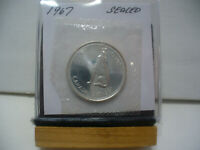 1967 CANADA SILVER HALF DOLLAR TOP GRADE  50 CENT PIECE  67  PROOF LIKE  SEALED