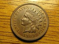 1909 S INDIAN HEAD CENT MULTI TONED UNCIRCULATED KEY BEAUTY