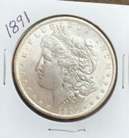 1891 MORGAN SILVER DOLLAR, MS.BU
