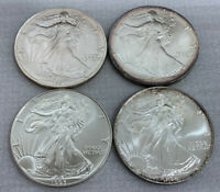 1991 1992 1993 & 1994 AMERICAN SILVER EAGLE BUNDLE GREAT PRICE AND GREAT DEAL