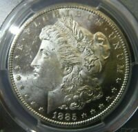 1885 CC PCGS MINT STATE 63 PL BLAST WHITE PROOF LIKE CARSON CITY MORGAN DOLLAR