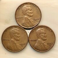 1952 THREE PENNY SET PDS YOUR ACTUAL COINS IN PHOTO.  GROUP EYE APPEAL.