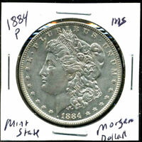 1884 P BU MORGAN DOLLAR UNCIRCULATED SILVER MINT STATE COMBINE SHIP$1 COINC3009