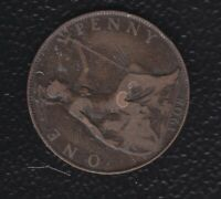 GREAT BRITAIN  PENNY 1908