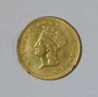 1857 TYPE 3 U.S. ONE DOLLAR $1 INDIAN PRINCESS HEAD GOLD COI