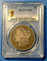 1895-O MORGAN SILVER DOLLAR, PCGS VG08 PLUS A SMALL FREEBIE JUST TO SAY THANKS.