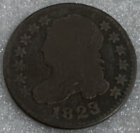 1823/2 CAPPED BUST DIME,  LOW MINTAGE COIN SHIPS FREE WITH FIVE ITEMS B