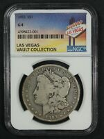 1893 MORGAN SILVER DOLLAR LAS VEGAS VAULT COLLECTION NGC G 04