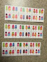 60 U.S. USPS FOREVER STAMPS FROZEN TREATS  3 BOOKS OF 20
