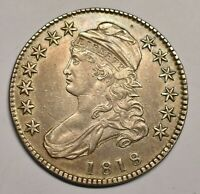 1818 CAPPED BUST HALF DOLLAR OVERTON 104A.  R3.