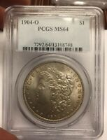 1904 O MORGAN PCGS MINT STATE 64  VAM 4B FISH HOOK  HIT LIST 40 SUPER CD -BEAUTY