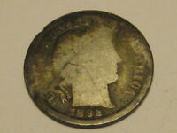 1892-P BARBER DIME BETTER DATE 90 SILVER